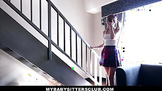 MyBabySitters - Lovely Youthful Sitter Pummels Parent