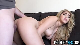 PropertySex - Curvaceous real estate agent drills her customer in condo