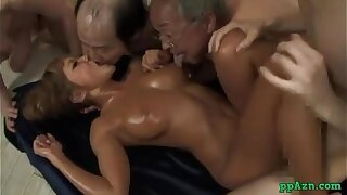 Steamy Suntanned Chinese Chick Screwed By Stud While Smooching With Wild Boys Jizz Adjacent to Hatch Sti