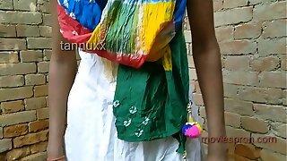 Outdoor teenage chick Puja Gupta nailing