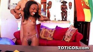 Having it away lil' little 81lb midget. 18yo ebony teenage vag in Dominican Republic