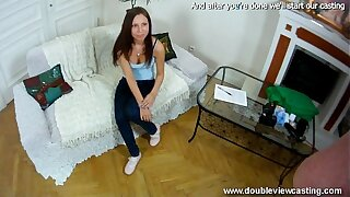 DOUBLEVIEWCASTING.COM - CLEOPATRA GETS Soaked Indeed Rapid (POV VIEW)