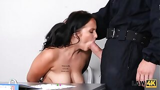 LAW4k. Teenager stunner Jennifer Mendez gets boinked in the hutch restrict for street graffiti