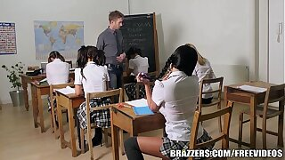 Brazzers - Young school girl does it applicable