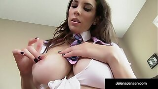 Crammer Girl, Jelena Jensen, Licks Fingers After Pussy Play!