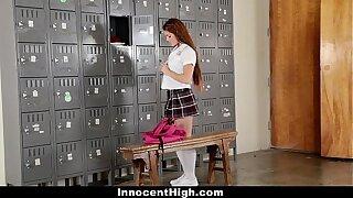 InnocentHigh - Slutty Cheerleader Squirts All Over Coach