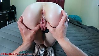 hot high school girl tries ANAL be advantageous to first time and INSTANT CUM @therealanyajohnson / Andy Savage
