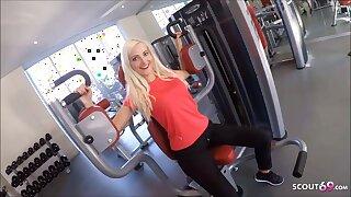 Skinny German Sport Girl Picks up and Fucks Stranger in Gym