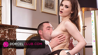 Mina Sauvage, French brunette's first-ever DORCEL scene