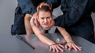 LAW4k. Nubile doesn't understand why but cops fuck her